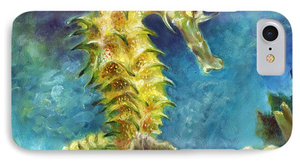 Seahorse I IPhone Case by Nancy Tilles