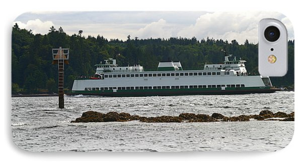 IPhone Case featuring the photograph Sealth Ferryboat Rich Passage by Kym Backland