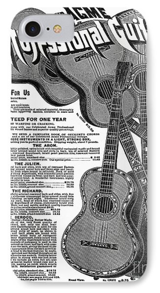 Sears Ad - Guitars 1902 Phone Case by Granger