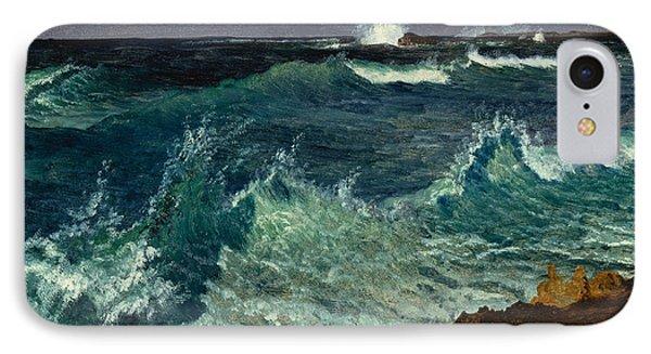 Seascape Phone Case by Albert Bierstadt