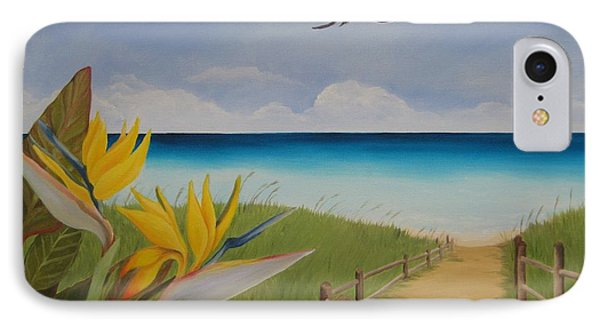 IPhone Case featuring the painting Seascape by Jindra Noewi