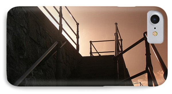 IPhone Case featuring the photograph Seaside Railings by Terri Waters