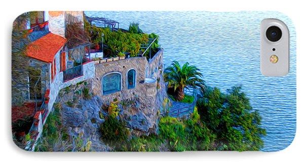 Seaside Villa Amalfi Phone Case by Bill Cannon
