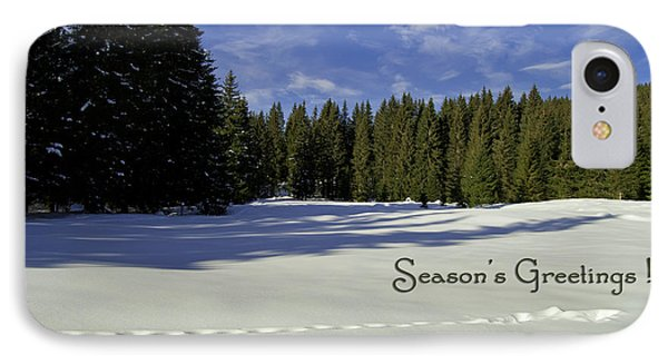 Season's Greetings Austria Europe Phone Case by Sabine Jacobs