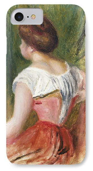 Seated Young Woman Phone Case by Pierre Auguste Renoir