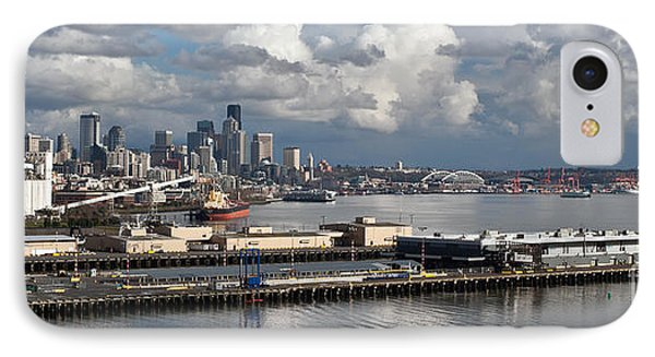 Seattle Pier View IPhone Case by Mike Reid