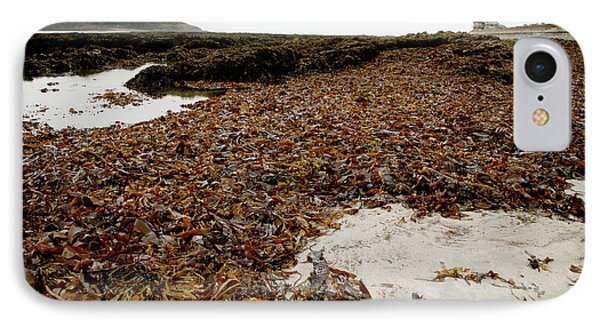 Seaweed Covered Beach Phone Case by Dr Keith Wheeler