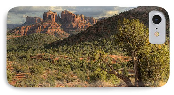Sedona Red Rock Viewpoint IPhone Case by Sandra Bronstein