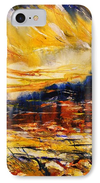 IPhone Case featuring the painting Sedona Sky by Karen  Ferrand Carroll