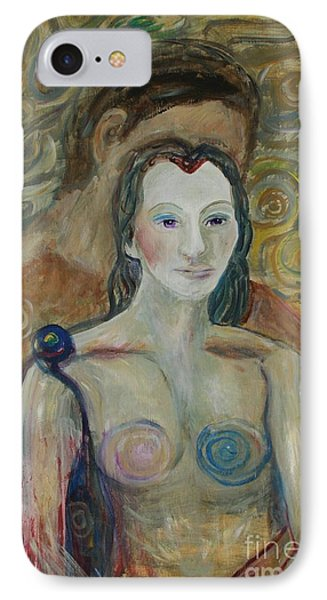 IPhone Case featuring the painting Seduction by Avonelle Kelsey