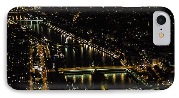 IPhone Case featuring the photograph Seine River Atop The Eiffel Tower by Marta Cavazos-Hernandez