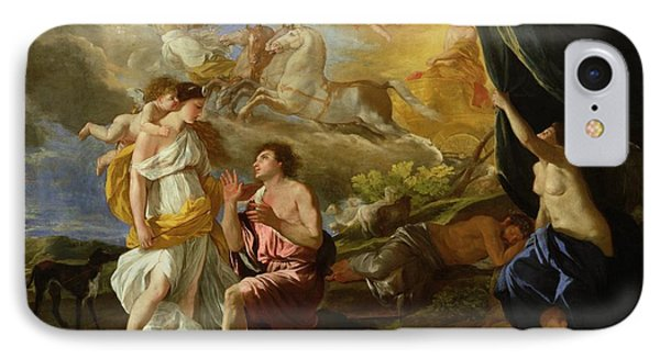 Selene And Endymion IPhone 7 Case by Nicolas Poussin