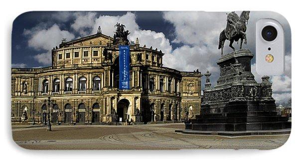 Semper Opera House Dresden - A Beautiful Sight Phone Case by Christine Till