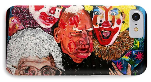 Send In The Clowns Phone Case by Karen Elzinga