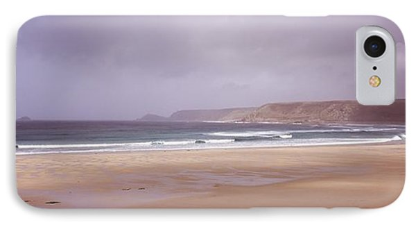 Sennen Cove Beach At Sunset Phone Case by Axiom Photographic