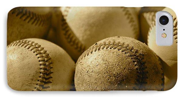 Sepia Baseballs Phone Case by Bill Owen
