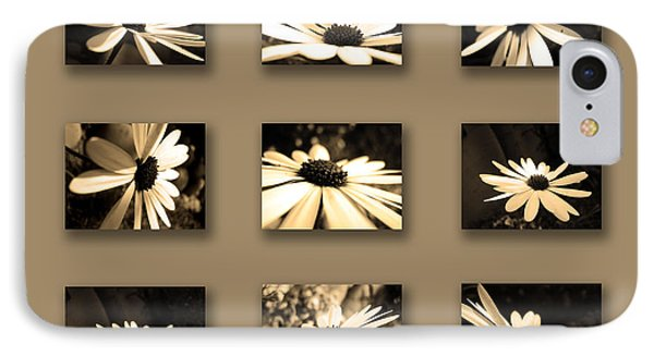 Sepia Daisy Flower Series Phone Case by Sumit Mehndiratta