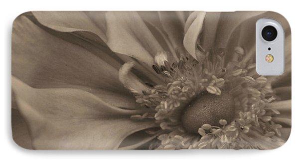 Sepia Floral Phone Case by Kristin Elmquist