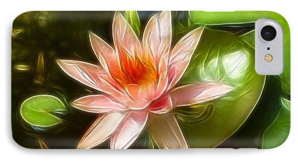 Serene Pink Waterlily  Phone Case by Darleen Stry