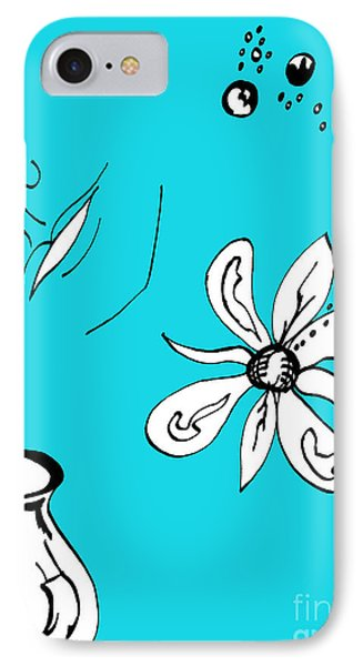 Serenity In Blue IPhone Case by Mary Mikawoz