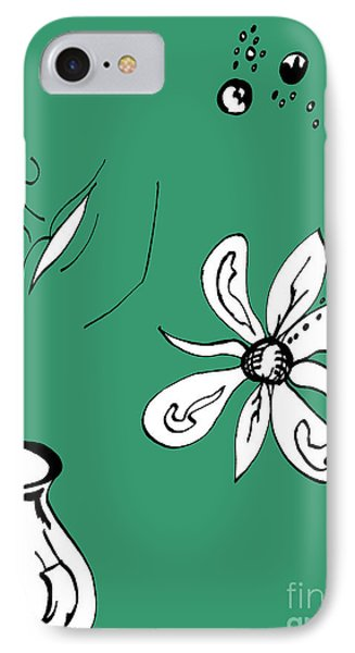 Serenity In Green Phone Case by Mary Mikawoz