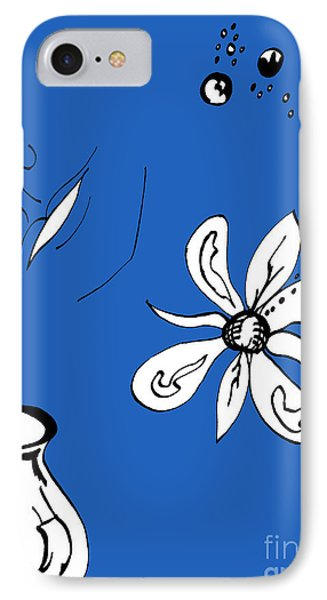 Serenity In Indigo Phone Case by Mary Mikawoz