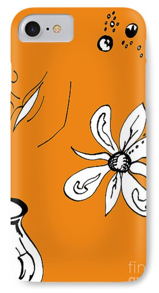 Serenity In Orange IPhone Case by Mary Mikawoz
