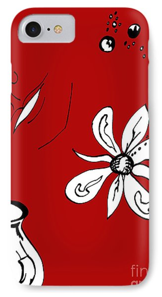 Serenity In Red Phone Case by Mary Mikawoz