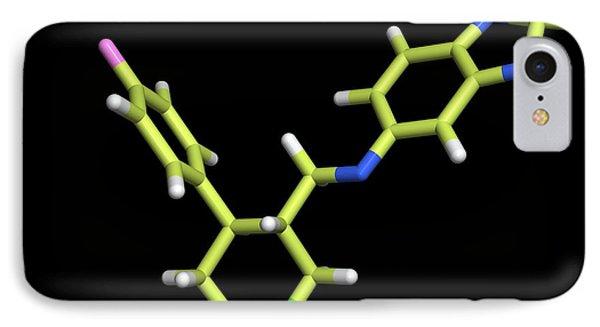 Seroxat (paroxetine) Molecule Phone Case by Dr Tim Evans