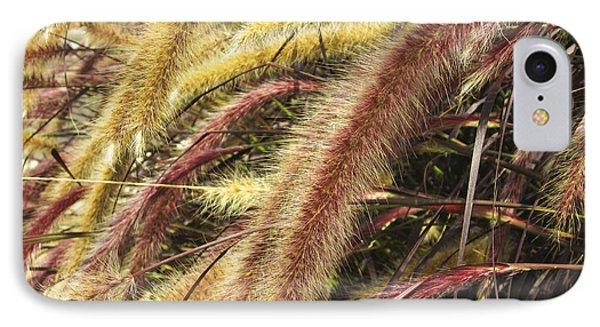 IPhone Case featuring the digital art Setaria Italica Red Jewel - Red Bristle Grass by Anne Mott
