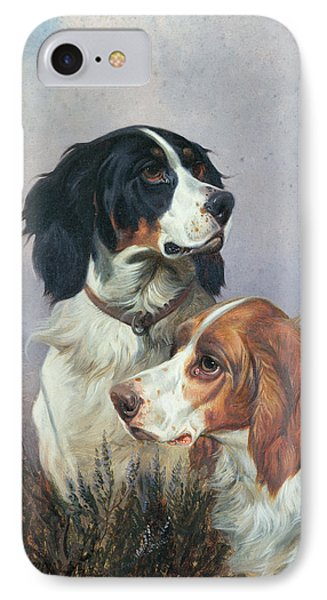 Setters On A Moor IPhone Case by Colin Graeme