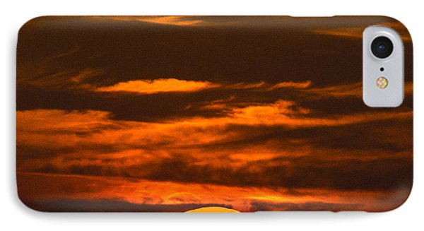 Setting Sun Flyby IPhone Case by Shannon Harrington