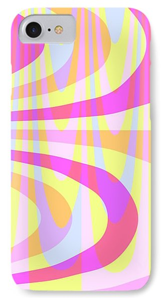Seventies Swirls IPhone Case by Louisa Knight