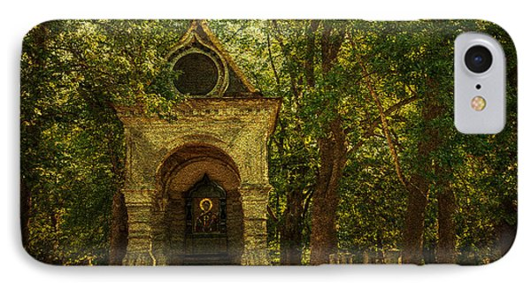 Shaded Chapel. Golden Green Series Phone Case by Jenny Rainbow