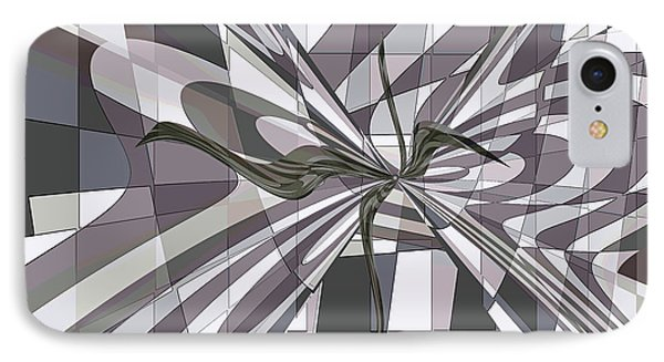 IPhone Case featuring the digital art Shades Of Gray by Ginny Schmidt