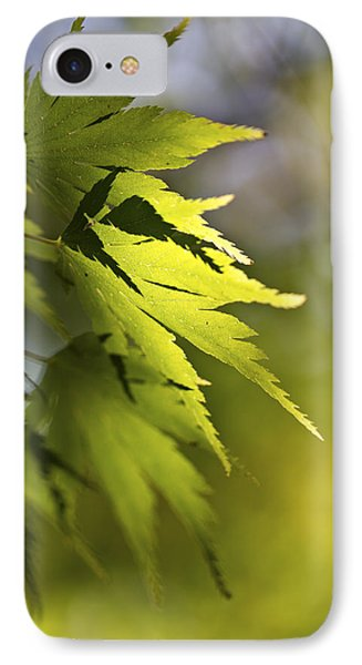 Shades Of Green And Gold. IPhone 7 Case by Clare Bambers