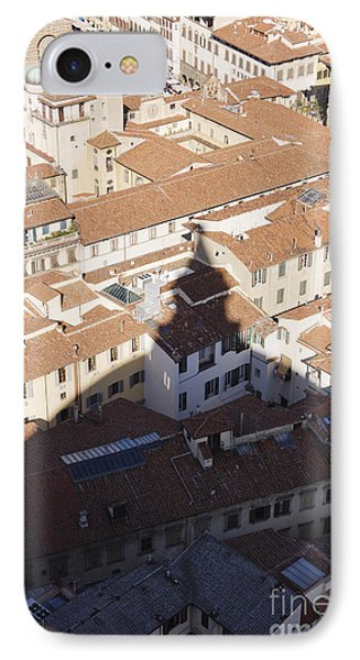 Shadow Of The Duomo On Buildings Of Florence Phone Case by Jeremy Woodhouse