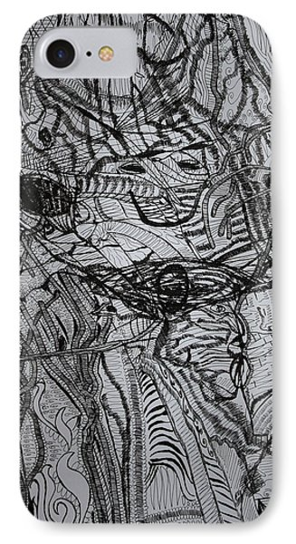 IPhone Case featuring the drawing Shango by Gloria Ssali