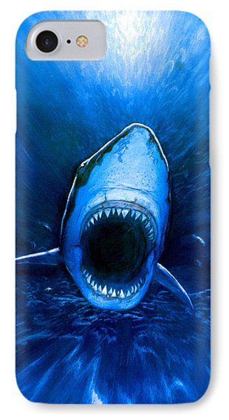 Shark Attack Phone Case by Chris Butler
