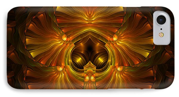 Shattered Five Leaf Clover Abstract IPhone Case by Georgiana Romanovna