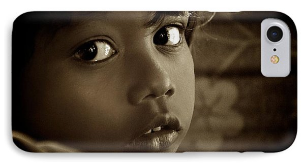 She Just Stared IPhone Case by Valerie Rosen