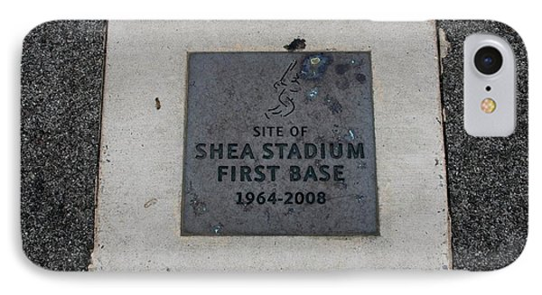 Shea Stadium First Base Phone Case by Rob Hans