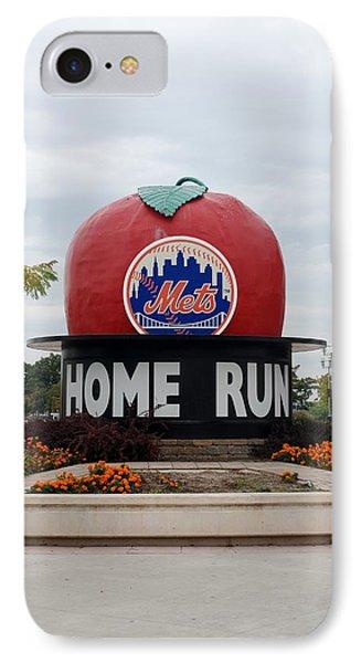 Shea Stadium Home Run Apple Phone Case by Rob Hans
