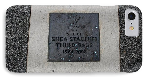 Shea Stadium Third Base IPhone Case by Rob Hans