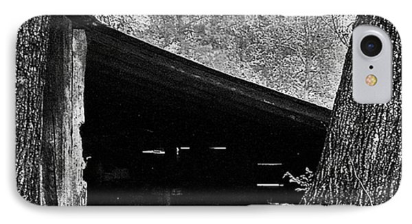 IPhone Case featuring the photograph Shed Between Two Oaks Near Alexandria by Louis Nugent