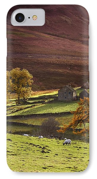 Sheep On A Hill, North Yorkshire Phone Case by John Short