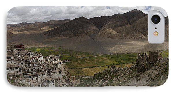 Shegar Monastery And A Group Of Ruined IPhone Case by Phil Borges