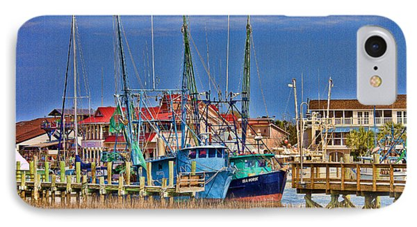 Shem Creek Shrimpers IPhone Case by Bill Barber