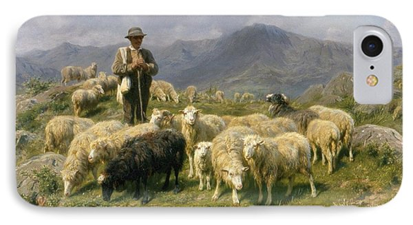 Shepherd Of The Pyrenees IPhone Case by Rosa Bonheur