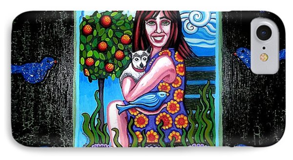 Sherry And Her Chihuahua Phone Case by Genevieve Esson